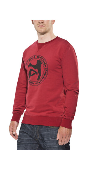 ÖTillÖ French Terry Peached Crew Neck Sweatshirt Men Burgundy